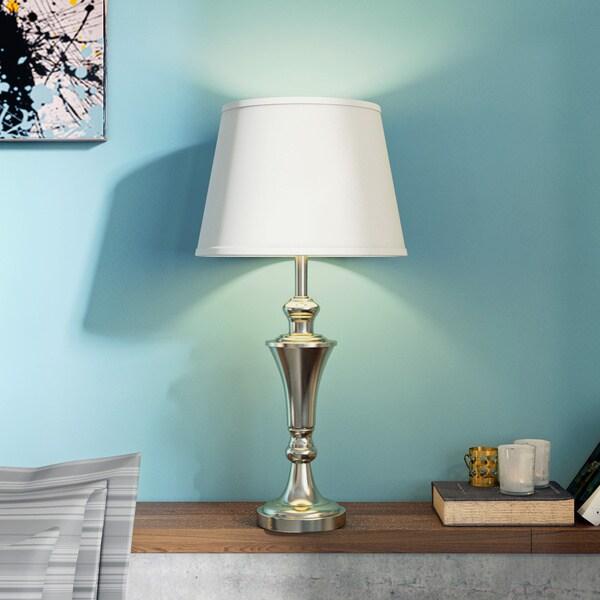Porch & Den Medford Polk 26-inch Antique Brass Metal Lamps (Set of 2)