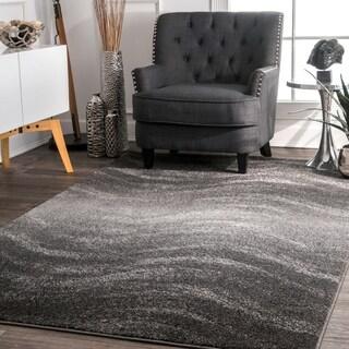 Porch & Den Williamsburg Rodney Ombre Waves Grey Rug (2' x 3')