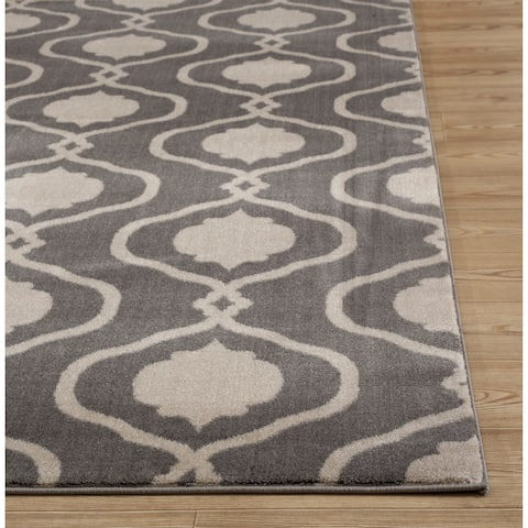 "Porch & Den Chartres Trellis Grey Area Rug - Gray - 5'3"" x 7'3"""