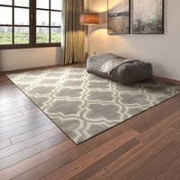 Porch & Den Marigny Spain Trellis Grey/ Beige Area Rug - 7'6 x 9'5
