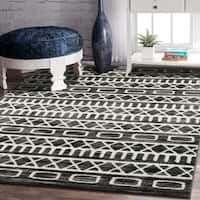 LR Home Matrix Gypsy Titanium / Garden Indoor Rug ( 7'9 x 9'5 ) - 7'9 x 9'6