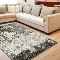 Porch & Den Somerville Wesley Black/ White/ Brown Indoor Area Rug - 5'2 x 7'2