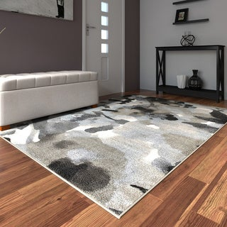 Porch & Den Somerville Highland Walnut and Frost Grey Indoor Area Rug (5'2 x 7'2)