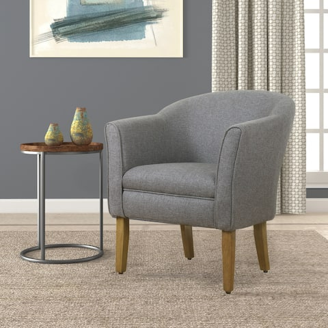Porch & Den Kingswell Charcoal Modern Barrel Accent Chair