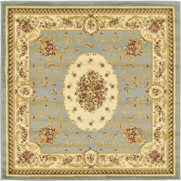 Unique Loom Phillipe Versailles Square Rug - 4' 0 x 4' 0