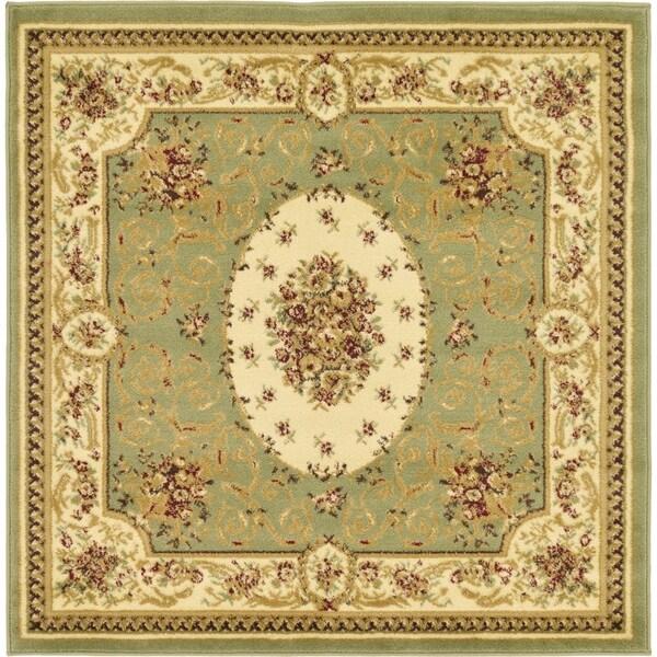 Unique Loom Phillipe Versailles Square Rug - 4' x 4'