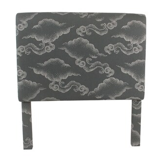 HomePop Twin Headboard - Gray Clouds