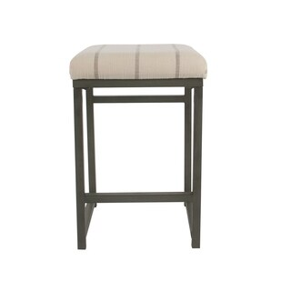 "HomePop Open Back 24"" Counter Stool - Wicker Gray"