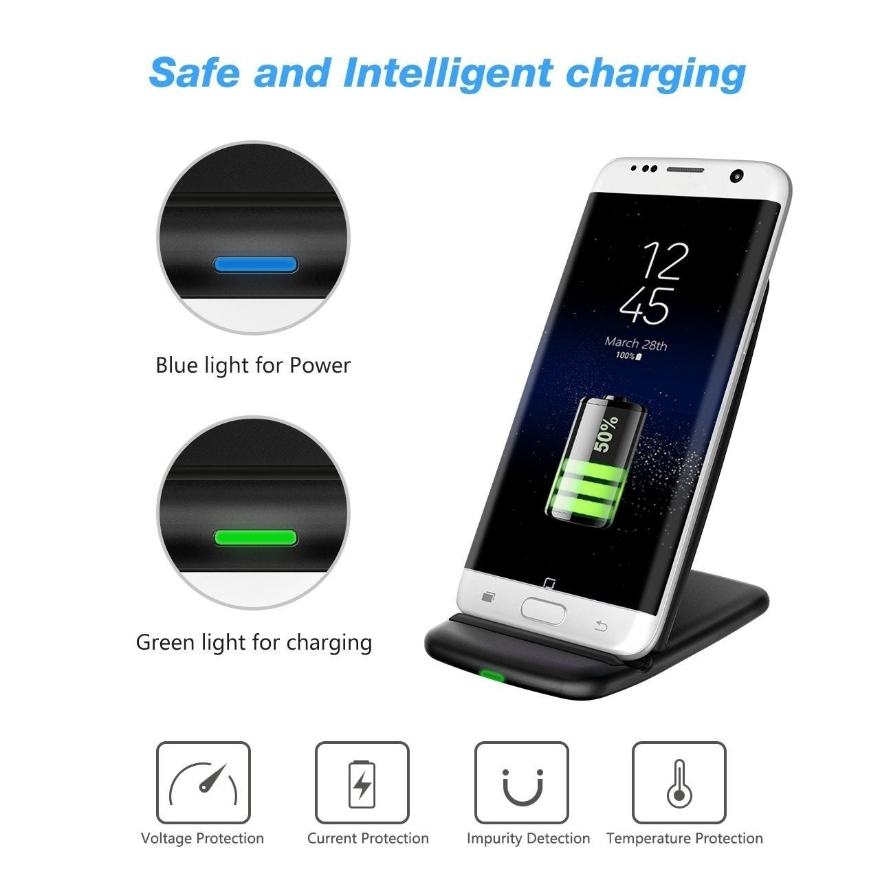 Coutlet Fast Wireless Charger, PrimAcc QI Quick Wireless ...