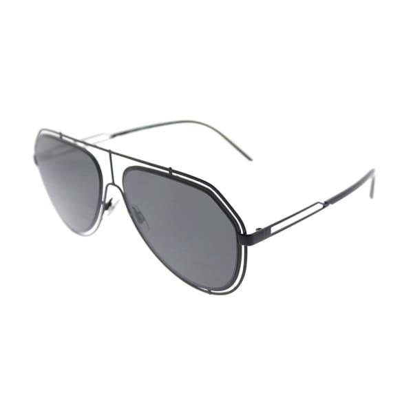 708f4e28de8 Dolce  amp  Gabbana Aviator DG 2176 31778 Unisex Black Frame Grey Lens  Sunglasses