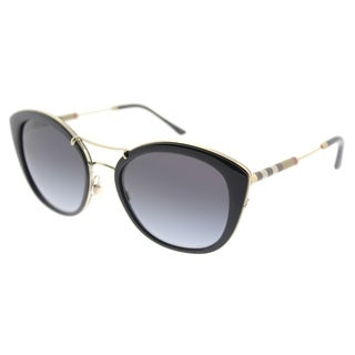 Burberry Round BE 4251Q 30018G Women's Black Frame Grey Gradient Lens Sunglasses