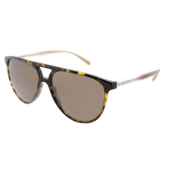 1a22b1d76c Burberry Aviator BE 4254 300273 Unisex Dark Havana Frame Brown Lens  Sunglasses