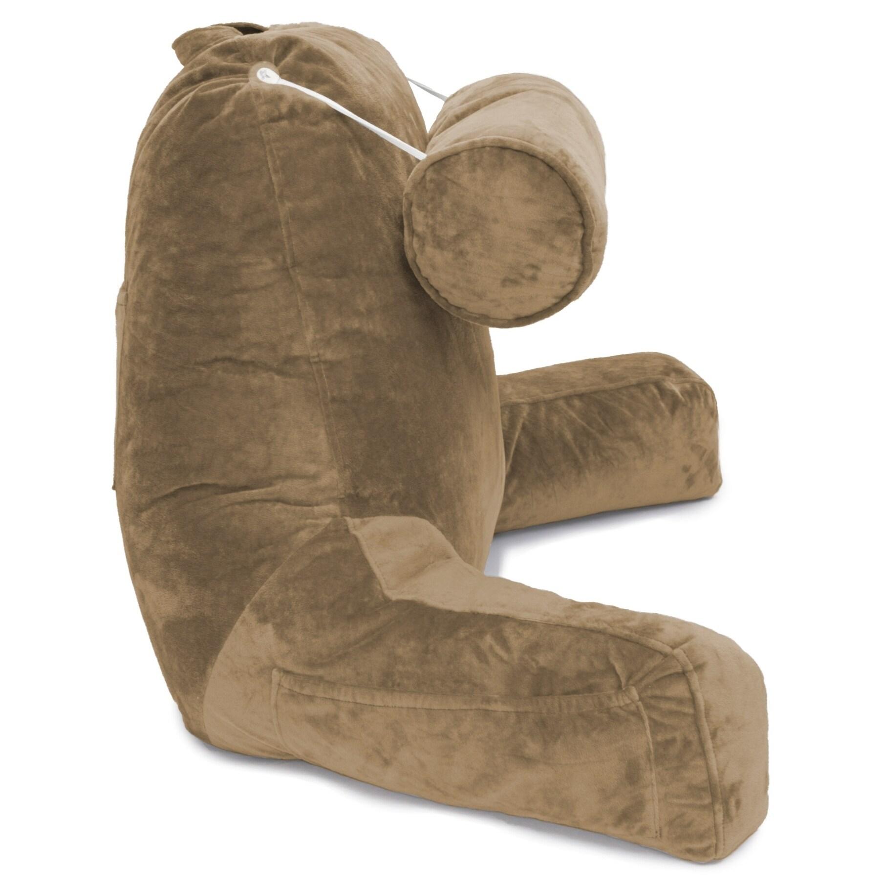 Husband Pillow Bedrest Reading & Support Bed Backrest w/ ...