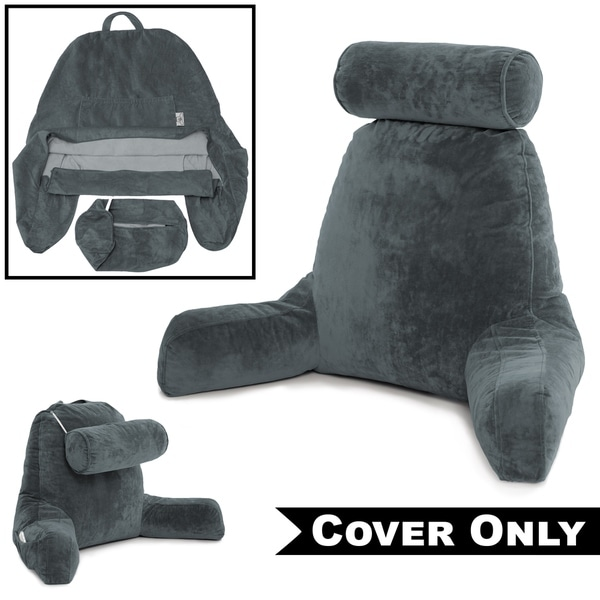 Dark Grey COVER ONLY -For the Husband Pillow - Bedrest - Reading  amp   Support 3ef92f2ad