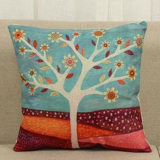 Vintage Cotton Linen Pillows Case Magma and Tree 18x18