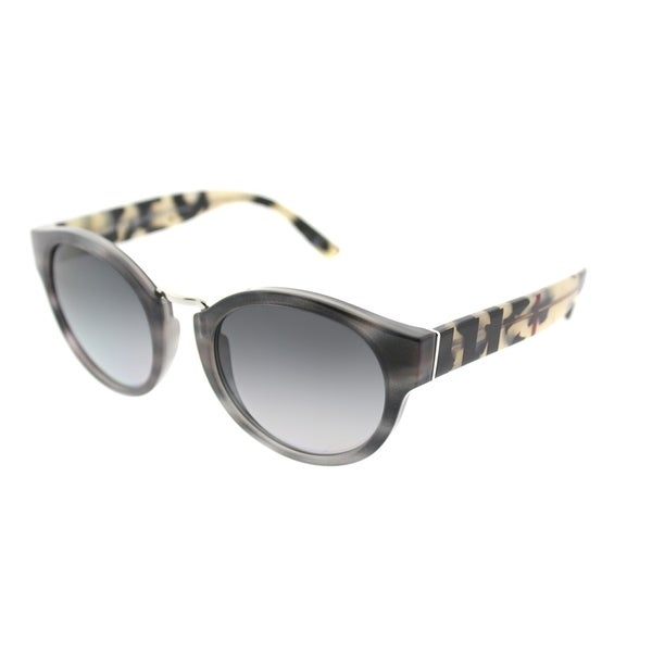 Shop Burberry Round BE 4227 3670T3 Women's Striped Grey