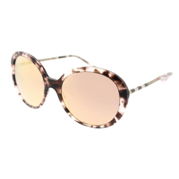 a82b126fedda0 Burberry Round BE 4239Q 36637J Women  x27 s Pink Havana Frame Gold Mirror  Lens