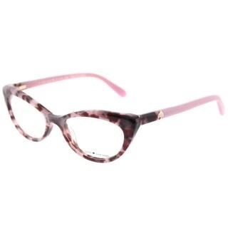 Kate Spade Cat Eye KS Analena W83 Women's Pink Tortoise Frame Eyeglasses