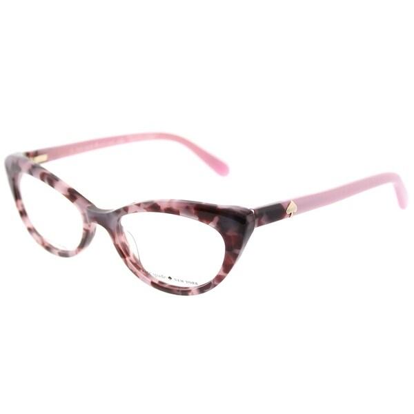 fe494f4cc7f Kate Spade Cat Eye KS Analena W83 Women  x27 s Pink Tortoise Frame  Eyeglasses
