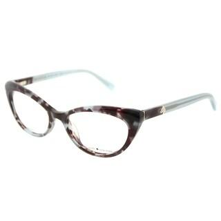 Kate Spade Cat Eye KS Analena W82 Women's Blue Tortoise Frame Eyeglasses
