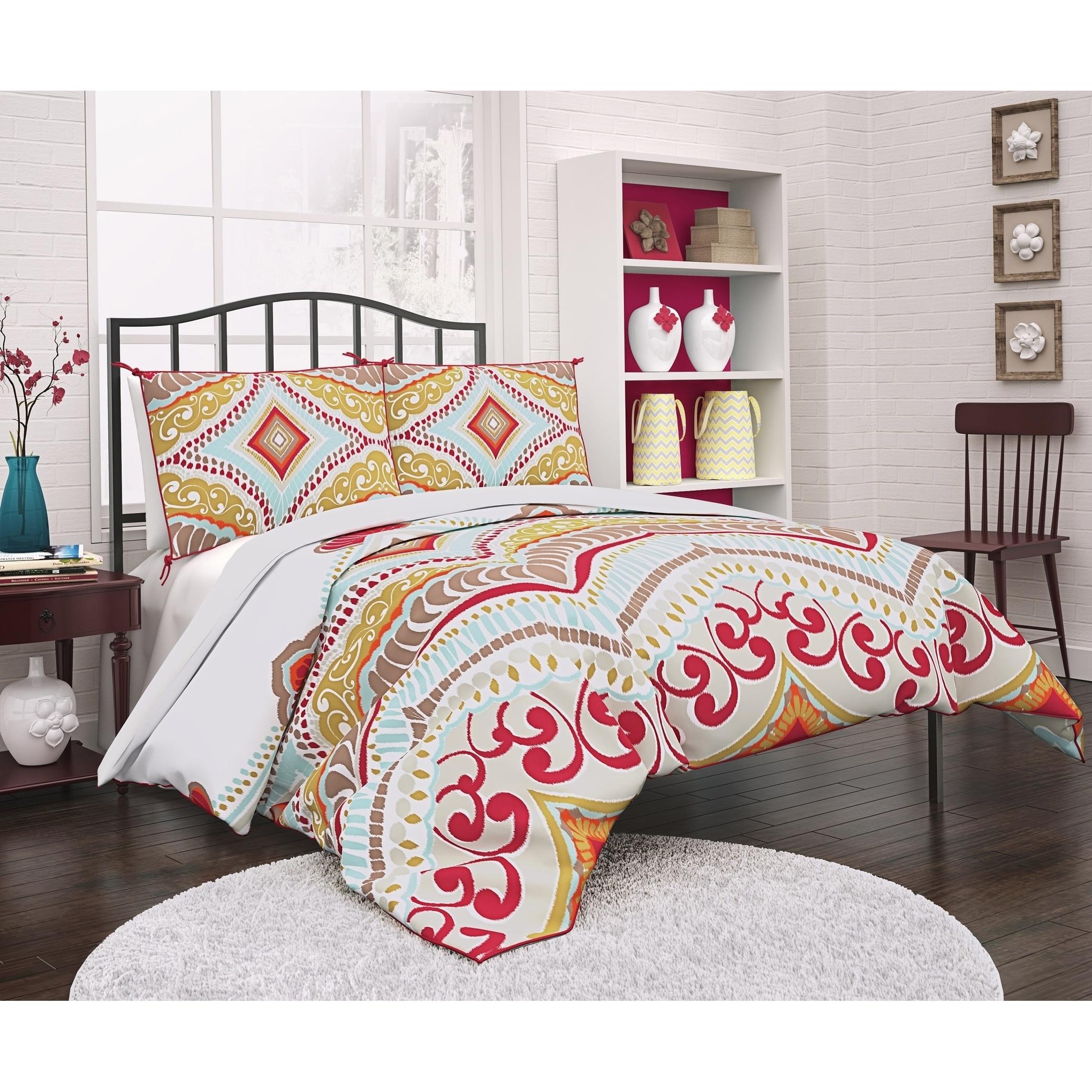 DOPO Boho Boutique Utopia Reversible Comforter Set (Queen...