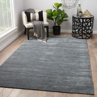 Phase Handmade Solid Gray Area Rug (8' x 10')
