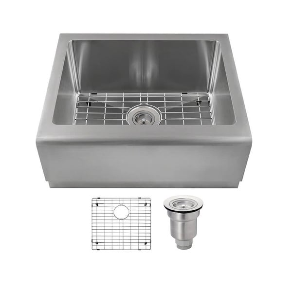 MR Direct Single Bowl Stainless Steel Apron Sink Ensemble