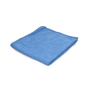 "Pro-Clean Basics 12""x12"" Blue Microfiber General Purpose Heavy Weight Cleaning Cloth"