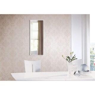 Rayne Mirrors U.S. Bright White Metal Panel Mirror