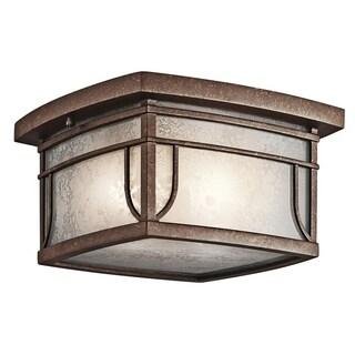 Kichler Lighting Soria Collection 2-light Aged Bronze Outdoor Flush Mount