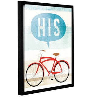Michael Mullan's Beach Cruiser His II, Gallery Wrapped Floater-framed Canvas - multi
