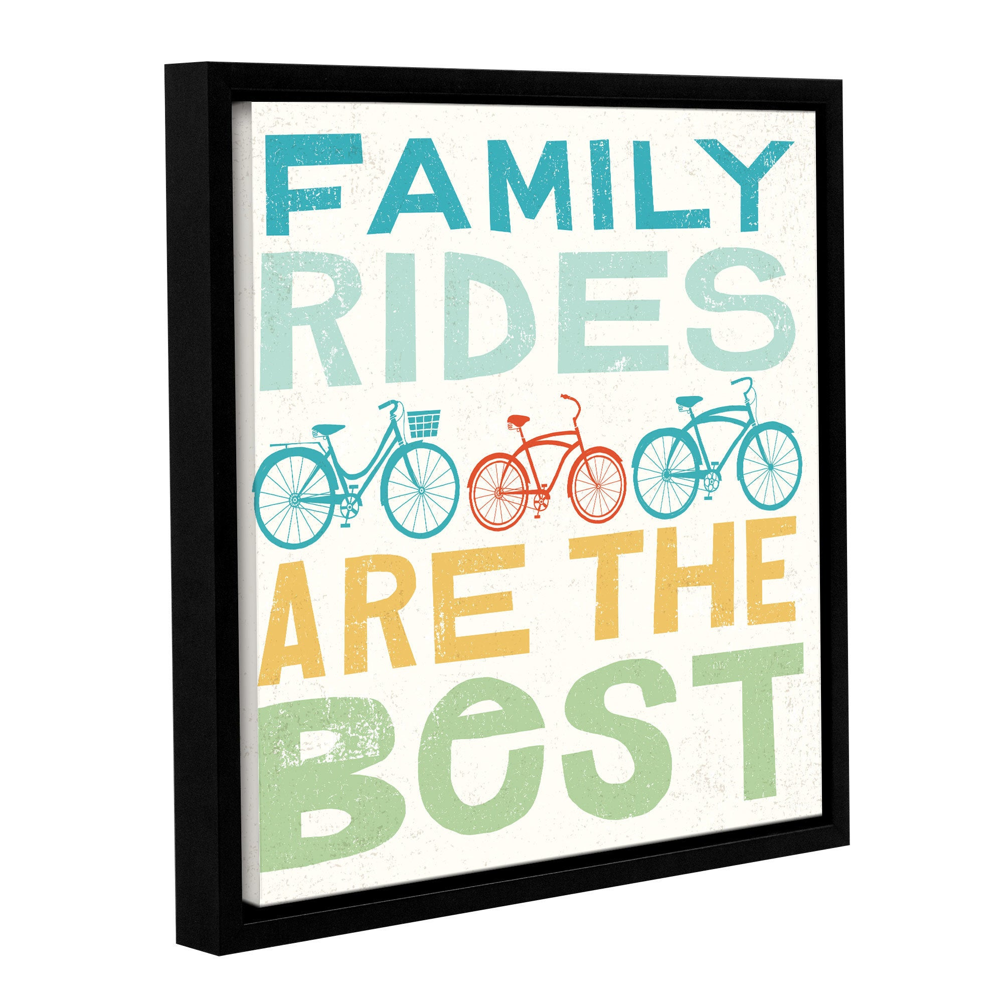 Michael Mullan S Lets Cruise Family Rides I Gallery Wrapped Floater Framed Canvas Overstock 18182760