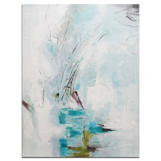 Modern Abstract Oil Painting of Beautiful Colors and Patterns on Canvas 36 x 48-inch Art