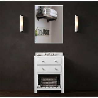 U.S. Bright White Metal Framed Vanity/Wall Mirror