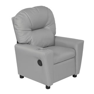 Relaxzen 60-7100KU Youth Recliner with Cupholder and Dual USB