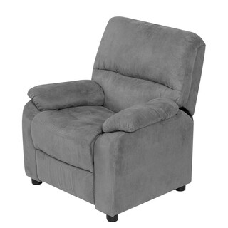 Relaxzen 60-7101KU Youth Recliner with Storage Arms and Dual USB