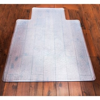 "Ottomanson Hard Floor Chair Mat with Lip Clear Plastic Mat Protector, (36"" x 48"")"