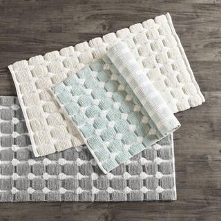 Madison Park Perla Cotton Woven Bath Rug - 3 Color Option