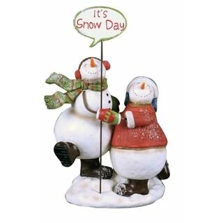 Transpac 6-Inch Resin Dancing Snowman
