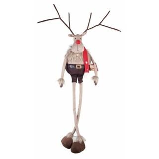 Transpac 12-Inch Plush Hanging Reindeer