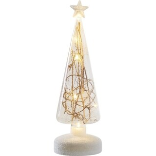 Transpac Small 11-Inch Glass Light Up Twig Tree