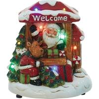 Transpac 7-Inch Dolomite Light Up and Music Christmas Scene