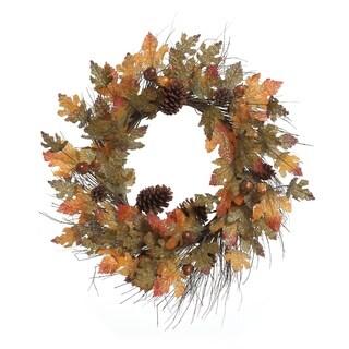 Transpac 28-Inch Faux Harvest Glitter Wreath