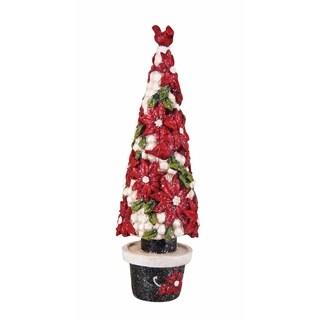 Transpac Small Res Poinsettia Tree