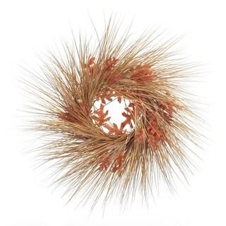 Transpac 24-Inch Fall Oak Leaf Wheat Wreath