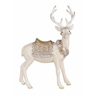 Transpac 12-Inch Resin Sparkling Reindeer