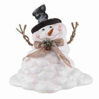 Transpac 10-Inch Large Terracotta Melting Snowman Figurine