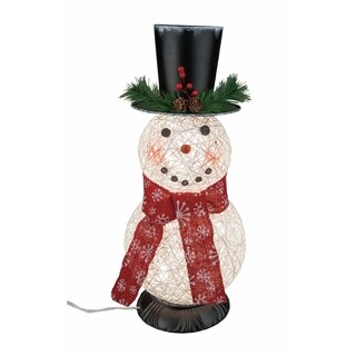 Transpac 7-Inch Small String Light Up Snowman