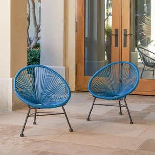 Sarcelles Modern Wicker Patio Chairs for Kids by Corvus (Set of 2)