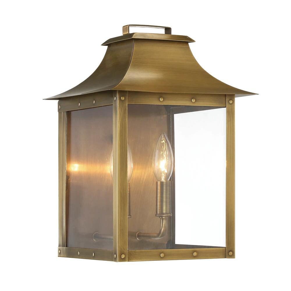 Acclaim Lighting Manchester 2 Light Outdoor Aged Brass Light Fixture